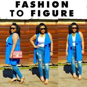 Fashion to Figure Blue Long Vest